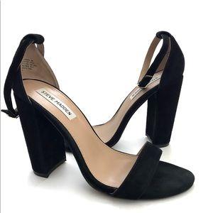 Black Steve Madden Carrson ankle strap heel